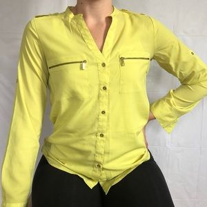 Yellow/lime colored button-up from CALVIN KLEIN.